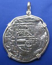 Sterling Silver Spanish Pirate Medallion Pendant Shipwreck Memorabilia Key West