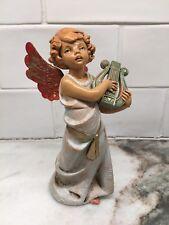 "Vintage Fontanini 6"" Angel Harp Figurine Depose Italy Spider Mark Christmas #364"