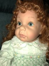 """Pat Secrist Apple Valley Doll Works 1995 BABY FACE 22"""" Blue eyes"""