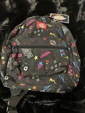 * Nwt Dickies Mini Backpack - Black Doodle - Adjustable Shoulder Straps *
