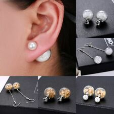 Unbranded Clip-On Stone Round Costume Earrings