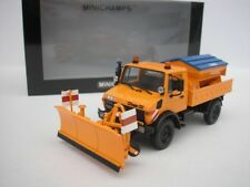 MERCEDES UNIMOG 1300l arado de la nieve Naranja 1/43 Minichamps 439033060 NUEVO