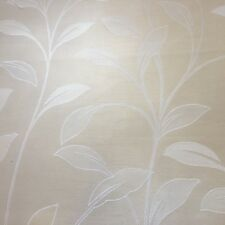 Ivory Leaves Jacquard Curtain Fabric, price per 1/2 meter