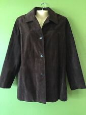 MARC BY MARC JACOBS JACKET Suede Leather Brown Coat Women's Size L
