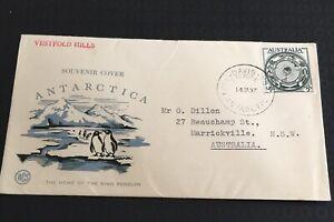 Australia  Antarctic 1957 WCS Fdc  Souvenir Cover Vestfold Hills  King Penguin