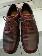 Men's ECCO Brown Leather UK 8.5 Lace-up Walking Shoes EU42 VGC
