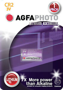 AgfaPhoto CR2 Lithium Extrem Foto Batterie CR2 3V B1 Photo Batterie MHD: 12-2026