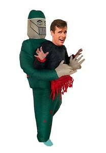 Adult Inflatable Surgeon Fancy Dress Halloween Inflatable Doctor Costume Suit