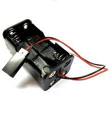 Titular de la batería C1202-9 Estuche Caja Pack 4 AA Compatibe JR Pines Macho/hembra de la vivienda