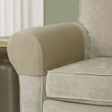 2 Piece Brownstone Armrest Covers Stretch Set Chair Sofa Arm Protectors-Tan