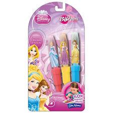 Disney Princess Blo Pens - Set With 3 Pens, 4 Stencils