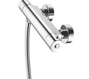 AQUALISA SIERRA COOL TOUCH REAR-FED EXPOSED CHROME THERMOSTATIC BAR MIXER SHOWER