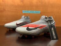Nike Phantom Vision VSN 2 Elite DF FG Men Size 12 Grey Soccer Cleats CD4161-906