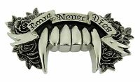 Love never dies rock rebel belt buckle gothic tribal celtic men women girly new