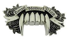 Love never dies rock rebel belt buckle gothic tribal celtic men women girly new