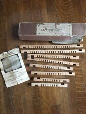 Antique Enterprise Weaving Knitting Frame with Original Instructions