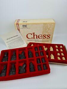 Studio Anne Carlton Chess Set Isle of Lewis Chessmen, Made in England