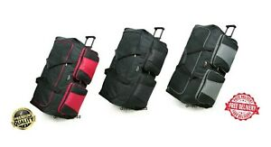Extra Large XL Wheeled Travel Luggage Trolley Holdall Suitcases Case Bag Wheels