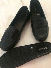 ROCKPORT WOMENS LOAFER STYLE SHOES BLACK SIZE 8 ORTHOTIC FRIENDLY