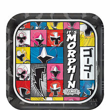 Power Rangers Party Supplies BEVERAGE PLATES Pack Of 8