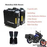 Motorcycle Aluminum Saddlebags Saddle Bags Side Hard Case For Harley Softail BMW