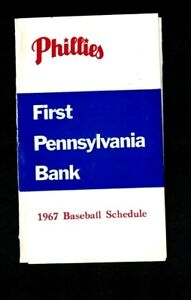 1967 Philadelphia Phillies Pocket Schedule - First Pennsylvania Bank EX