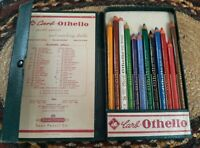 Vintage Schwan Carb-Othello Set of 12 Color Chalk Pencil Set Made Germany Boxed