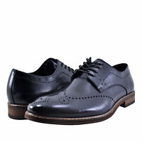 Stacy Adams Brayden Navy Brown Men/'s Cap Toe Leather Oxford 24972-492