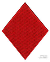RED DIAMONDS iron-on embroidered PATCH PLAYING CARD SUIT APPLIQUE GAMBLING POKER