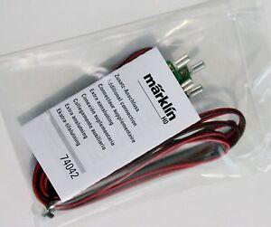 New Marklin 74042 Supplemental C Track Feeder Wire Set, 2 meters w/ connectors