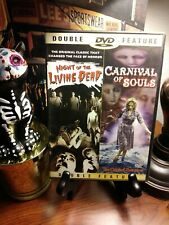 NIGHT OF THE LIVING DEAD / CARNIVAL OF SOULS DOUBLE FEATURE DVD SET - ZOMBIES