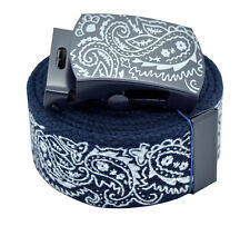 NAVY BANDANA BELT & BUCKLE CHICANO RAP CHOLO STYLE PAISLEY
