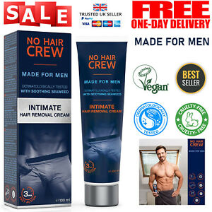 Mens Intimate Genital Hair Removal Cream for Sensitive Areas Extra Gentle 100 ml
