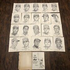 NY Mets-1969-A Portfolio Of Stars-20 portrait set by Bruce Stark-NY Daily News