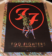PERMANENT WAVES Lava Foil Variant Foo Fighters OKC Jermaine Rogers Print Poster