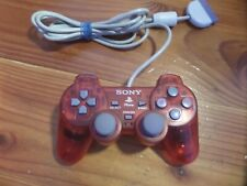 Sony PlayStation 1 PS1 PSone OEM Transparent Red Controller SCPH-110