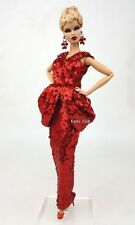 Red Evening Dress Outfit Gown For Silkstone Barbie Fashion Royalty Rupaul doll