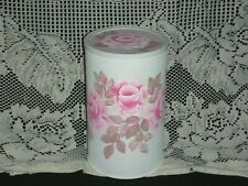 """Keepsake Container Pink Roses 8.5x5""""ej hp shabby chic cottage hand painted bx50g"""