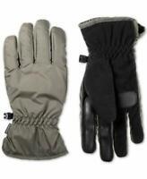 Isotoner Mens Smart Dri Fleece Lined Touch Screen Winter Gloves Gray