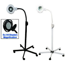 (5x) Magnification (16) Diopter Black Mag Lamp Light Led Stand Salon Equipment