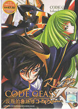 DVD Code Geass R1 + R2 Vol 1-50 End + Special + Free Anime