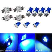 11PCS Blue LED Lights Interior Package for T10 & 31mm Map Dome For Subaru Scion