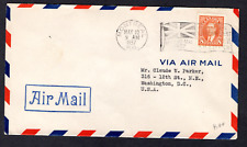 CANADA FIRST DAY COVER- 1937 - KING GEORGE VI 8 CENT MUFTI ISSUE - AIR MAIL