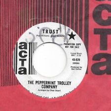 PEPPERMINT TROLLEY COMPANY * 45 * Trust / Long Ago * 1960s * DJ PROMO * USA ATCA