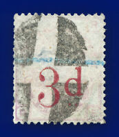 1883 SG159 3d on 3d Lilac Plate 21 K8A Early Parcel Obliterator S/F Cat £35 cknk