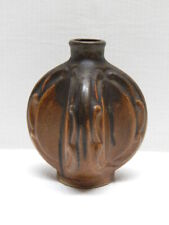 Great Antique DENBAC Art Nouveau Brown Dripping Glaze Miniature Vase #2