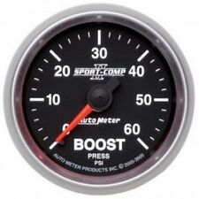 "Auto Meter 3605 2-1/16"" Sport-Comp II Mechanical Boost Gauge, 0-60 PSI"