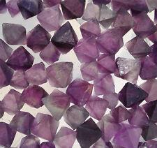 Top!100g Rare Natural Purple Fluorite Crystal Octahedrons Rock Specimen