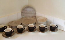 Vintage Kelston New Zealand Seagrass Dinner Set For 8 Mid Century Modern PU 3054