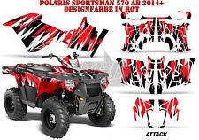 AMR Racing DECORO GRAPHIC KIT ATV POLARIS SPORTSMAN modelli Attack B